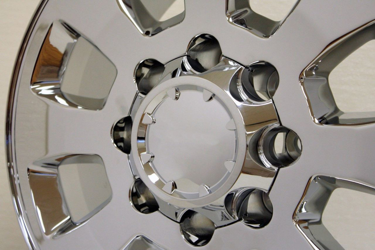"Chrome 18"" Denali Style 8 Lug 8-180 Wheels for 2011-2020 Chevy 2500 3500 - New Set of 4"