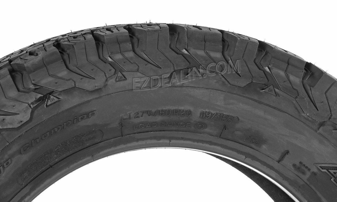 """Gloss Black 20"""" With Chrome Inserts Wheels with BFG KO2 A/T Tires for Chevy Silverado, Tahoe, Suburban - New Set of 4"""