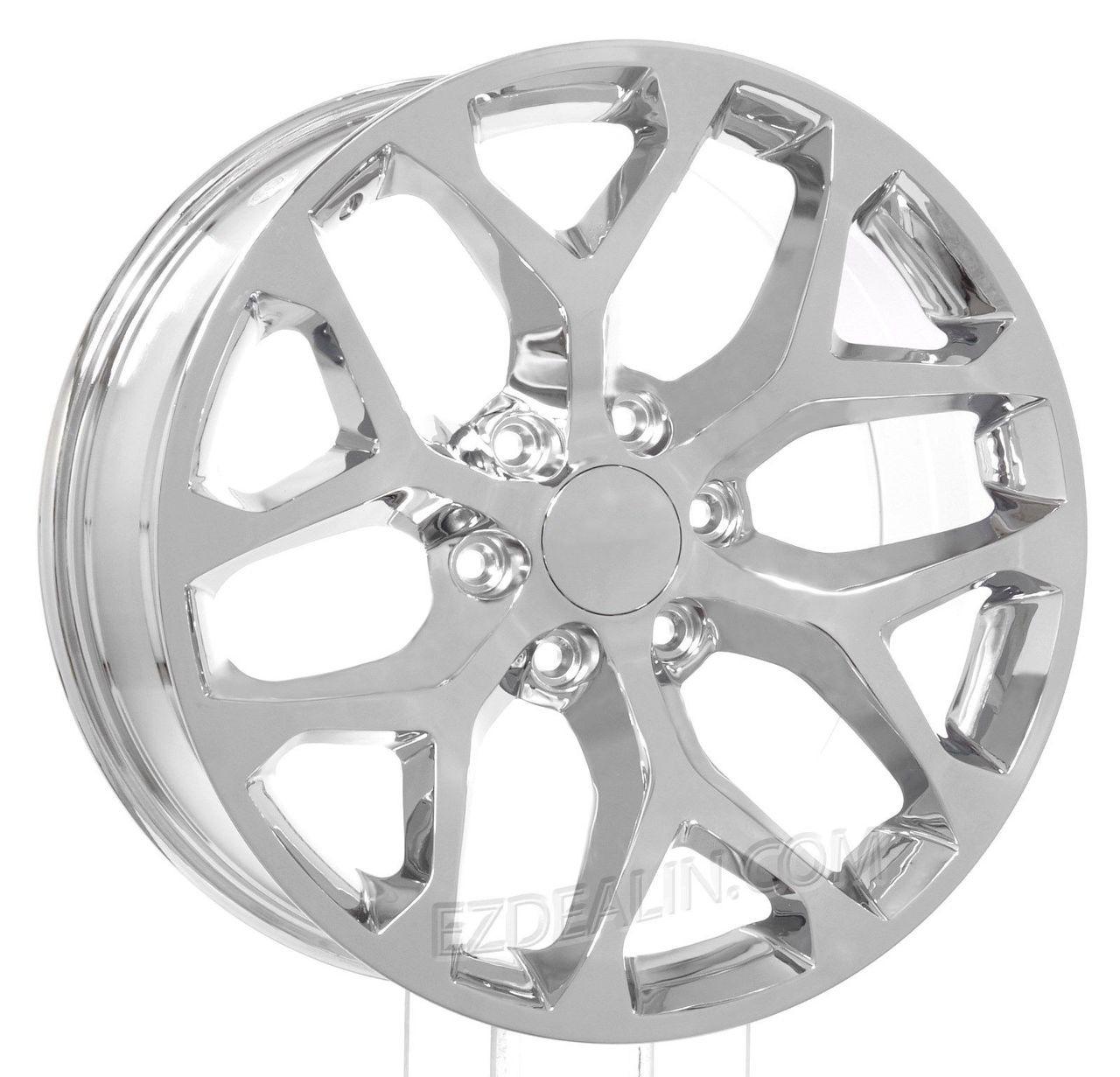Gmc 20 Chrome Snowflake Wheels For Sierra Yukon Denali