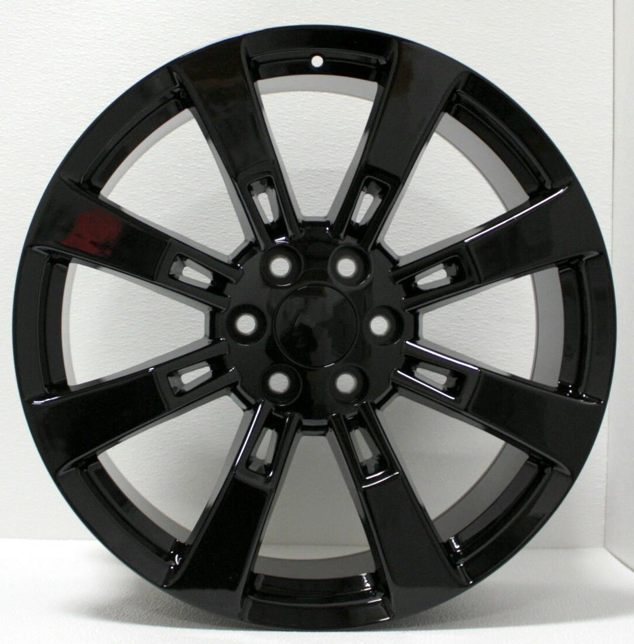 Gmc Black Eight Spoke 22 Inch Wheels Rims