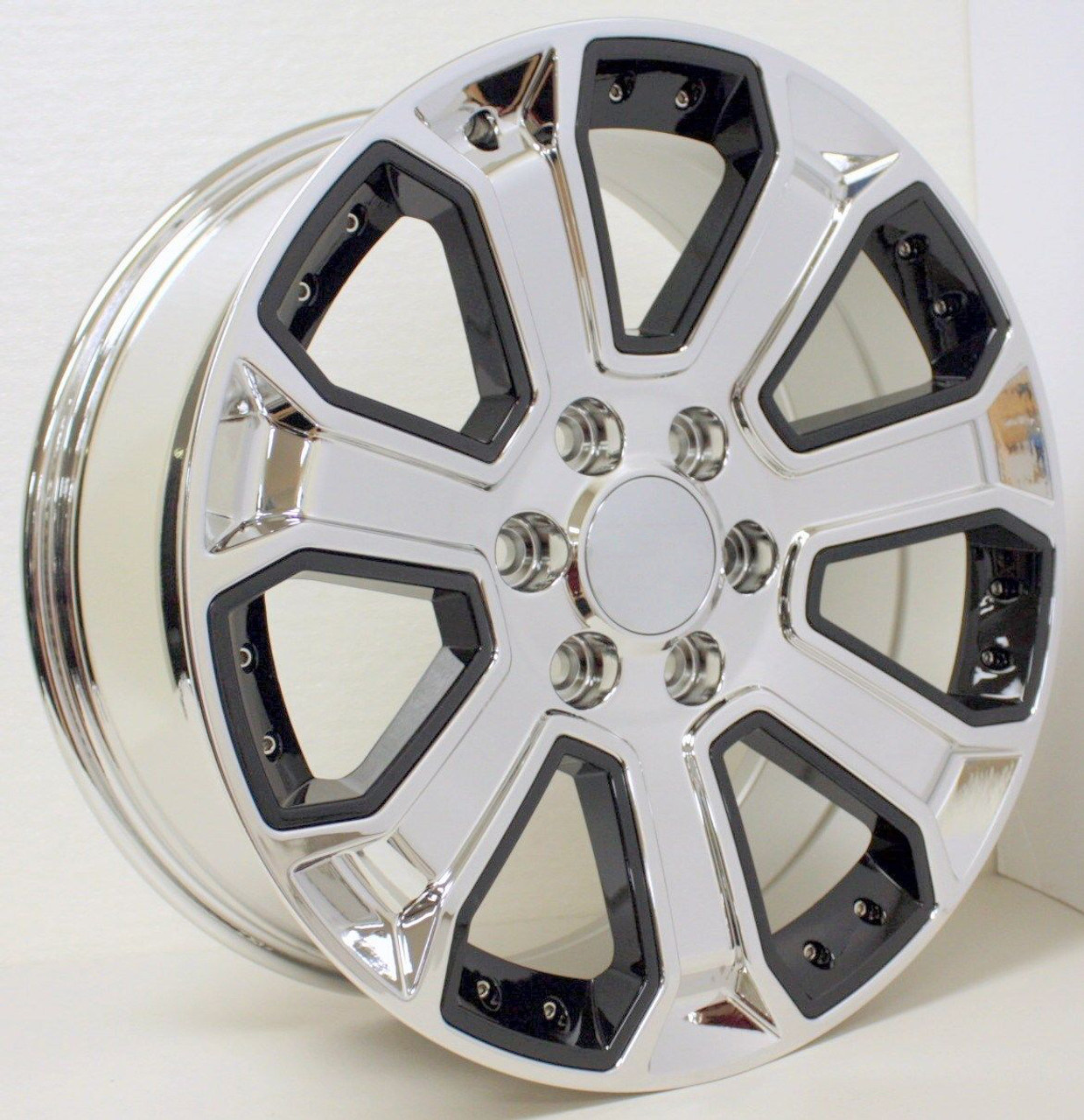 Gmc Chrome With Black Inserts 22 Inch Wheels Rims