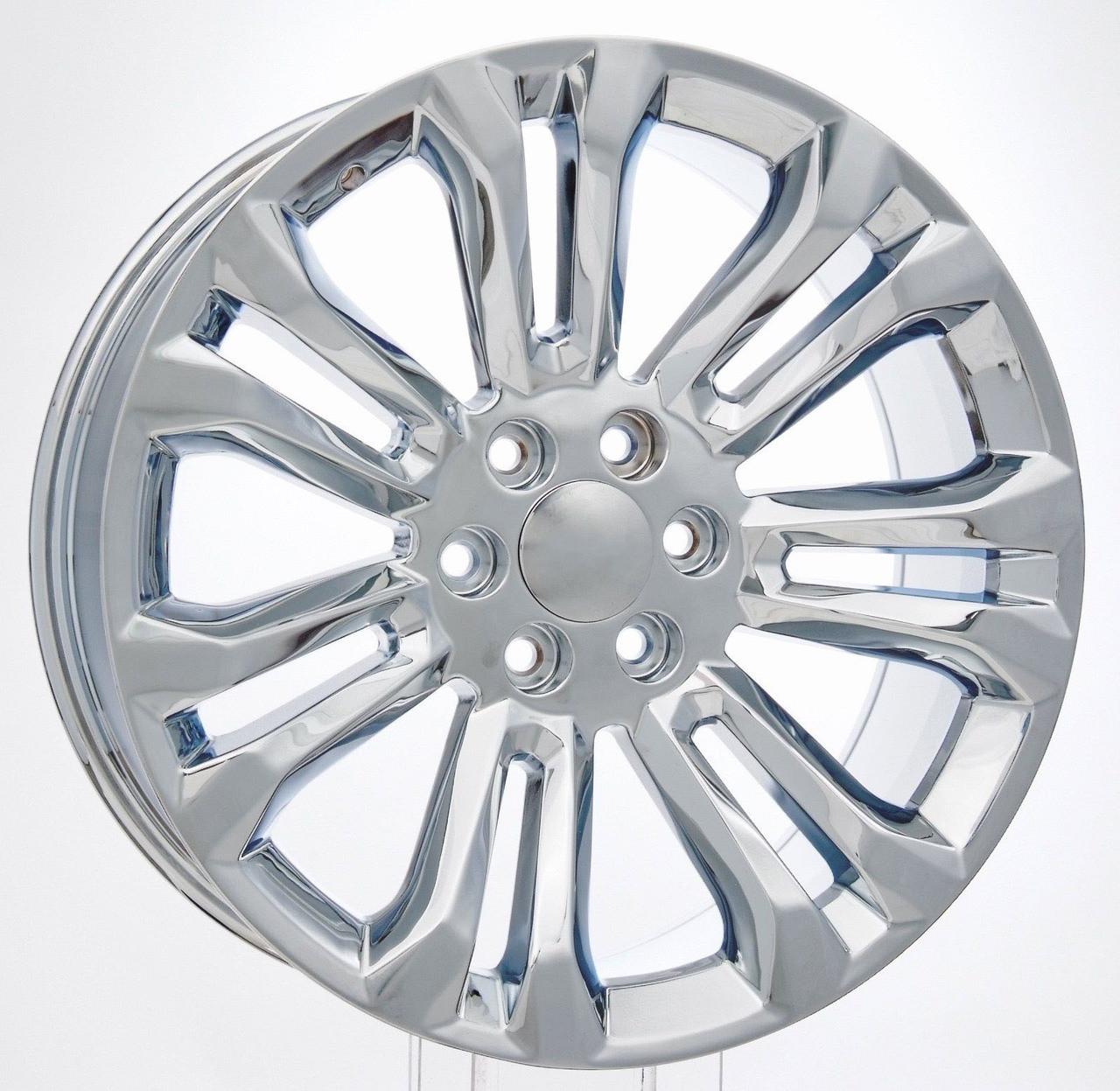 "Chrome 22"" New Style Split Spoke Wheels for GMC Sierra, Yukon, Denali - New Set of 4"
