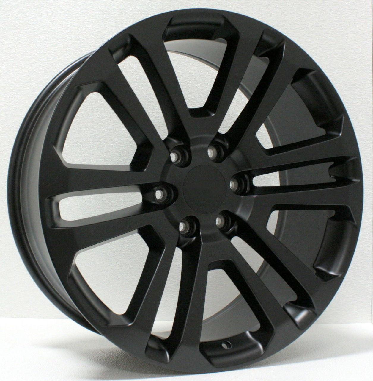 Gmc Savana 3500 >> GMC Black Split Spoke 22 inch Wheels Rims