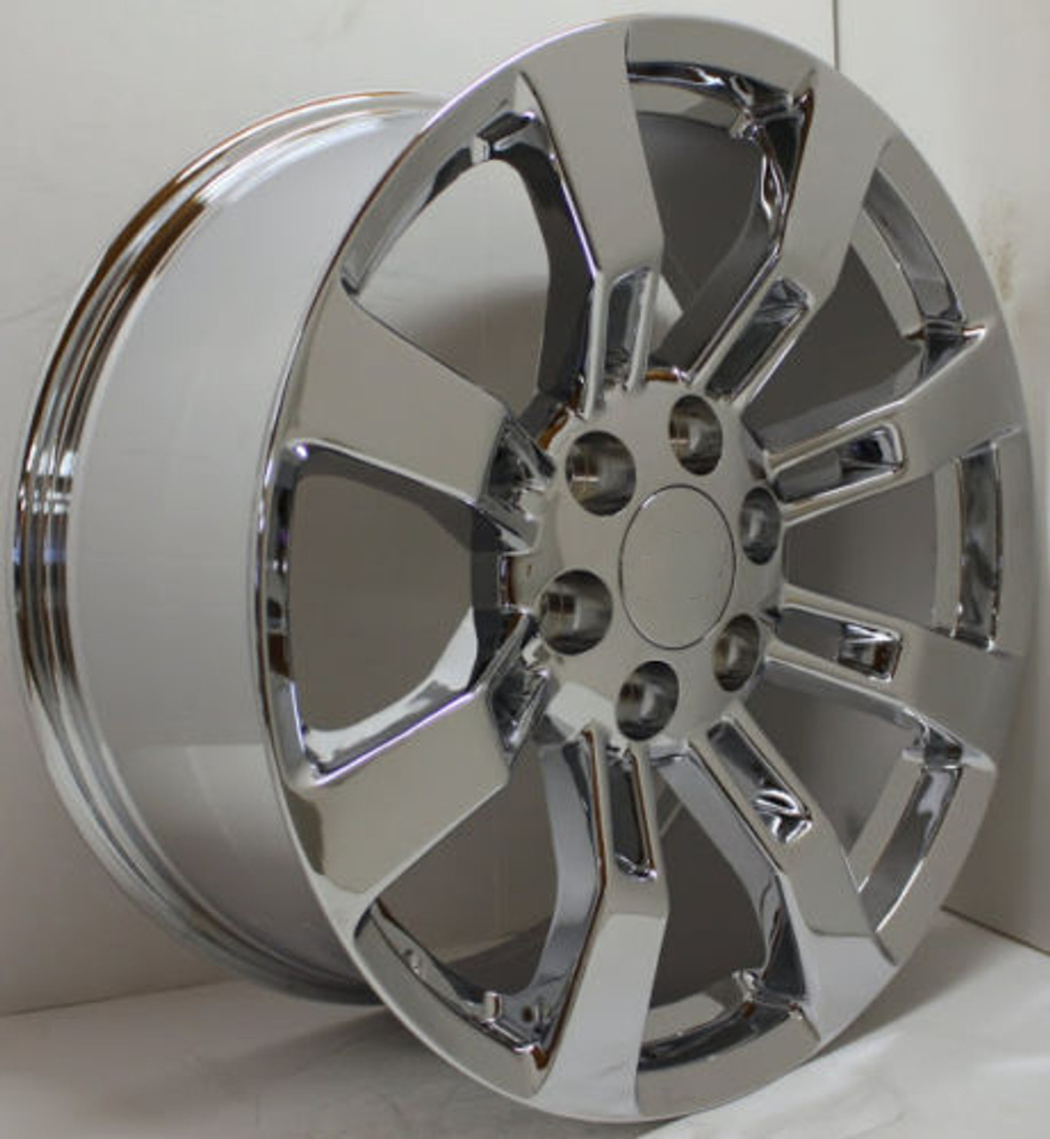 "Chrome 20"" Eight Spoke Wheels for GMC Sierra, Yukon, Denali - New Set of 4"