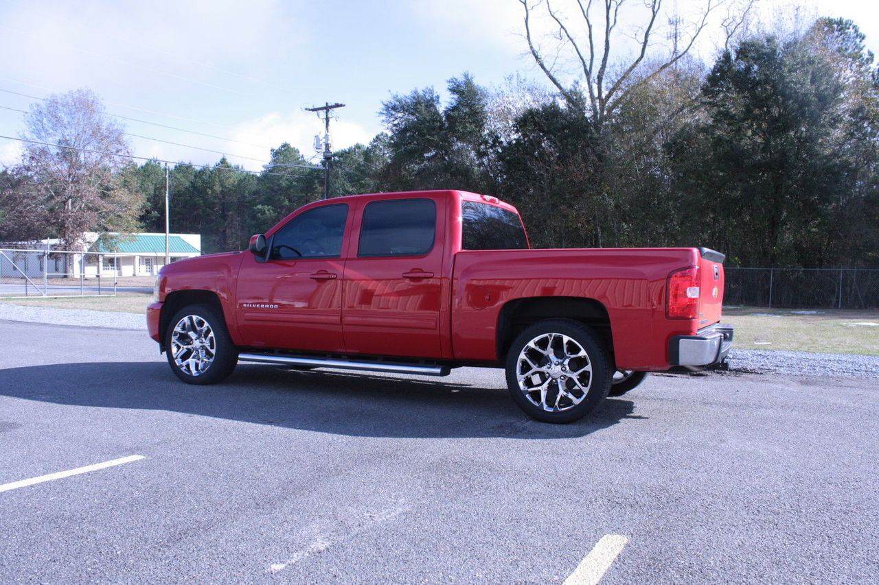 "Chrome 22"" Snowflake Wheels with Goodyear Tires for Chevy Silverado, Tahoe, Suburban - New Set of 4"
