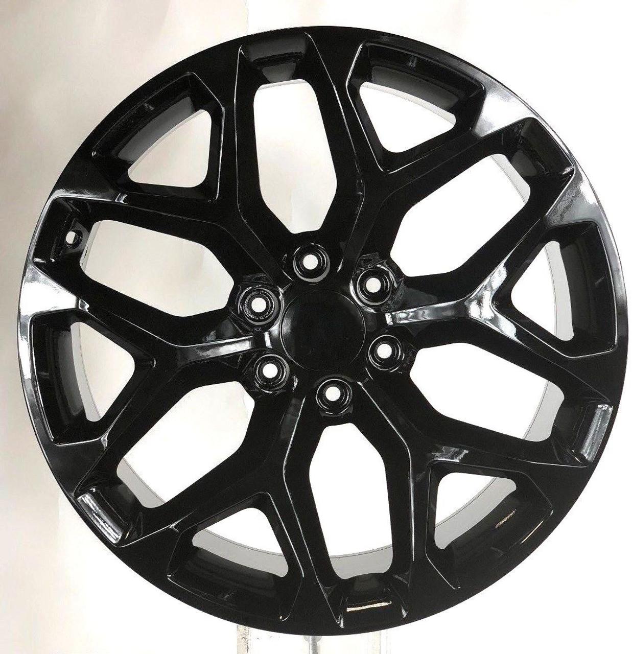 Gmc 20 Gloss Black Snowflake Wheels For Sierra Yukon Denali