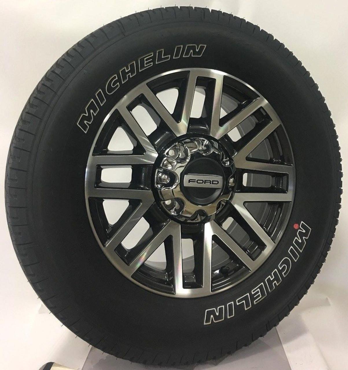 """Takeoff Ford F250 Lariet 20"""" OEM 2005-2018 Wheels Rims Michelin Tires"""
