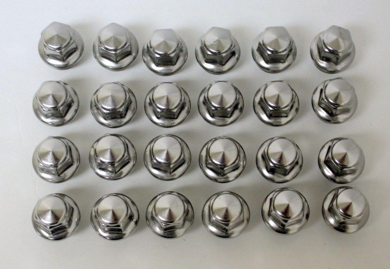 New Set of 24 2015-2018 Ford F-150 Factory OEM Polished Lug Nuts