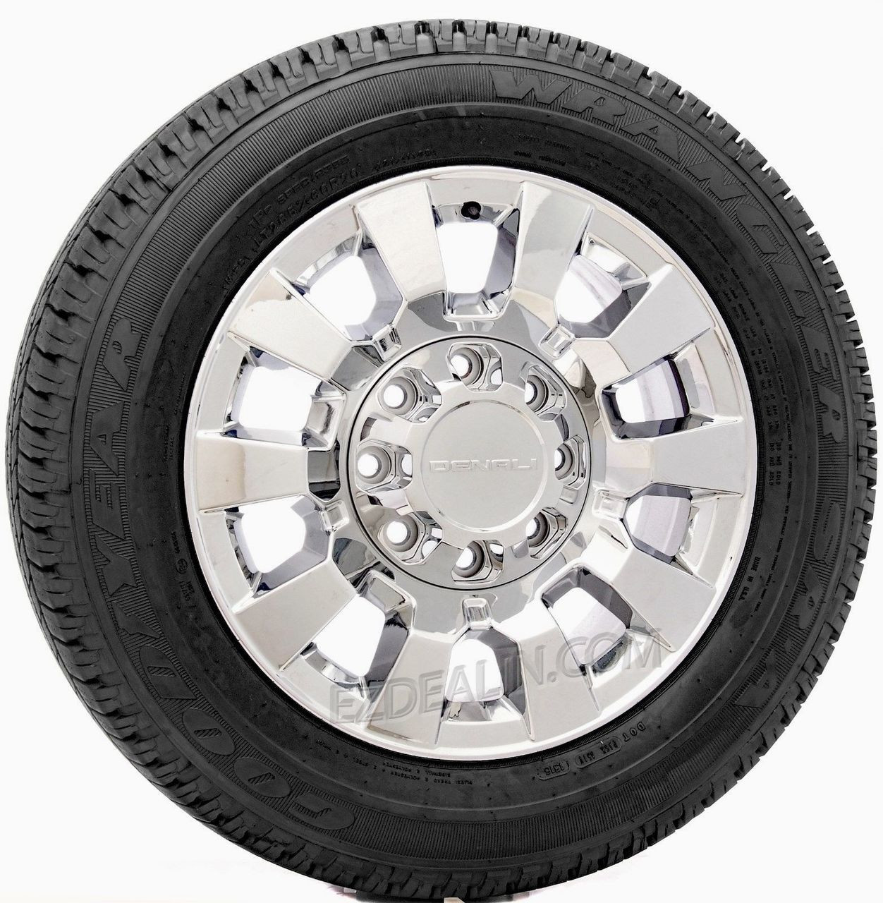 "New Takeoff GMC Sierra Denali 2500 8 Lug 20"" Chrome Wheels Goodyear Tires"