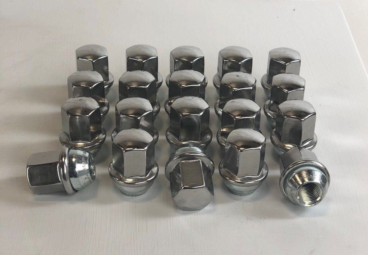 Set of 20 Dodge Ram 1500 Factory OEM 14mm X 1.5mm New Polished Lug Nuts