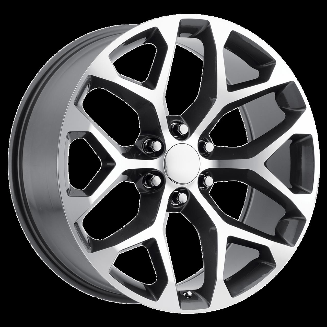 Gmc 22 Inch Gunmetal And Machine Snowflake Rims For Sierra Z71