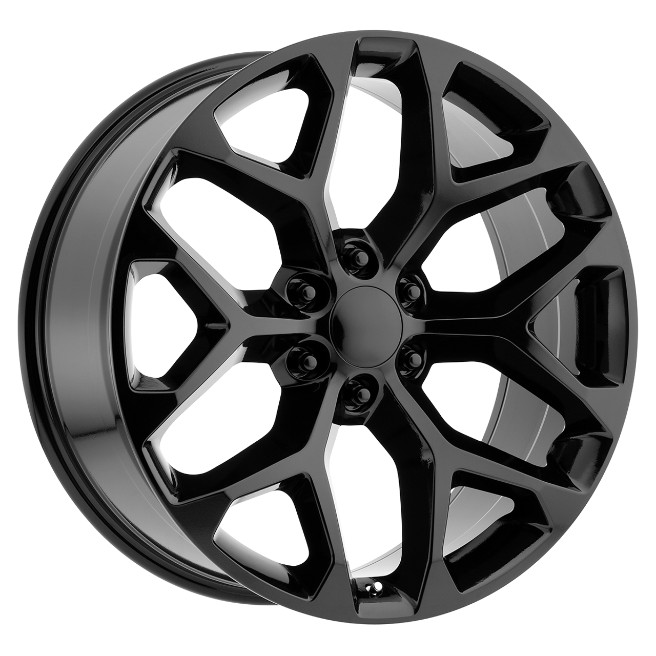 GM Replica 24 Inch Gloss Black Snowflake Rims for ...