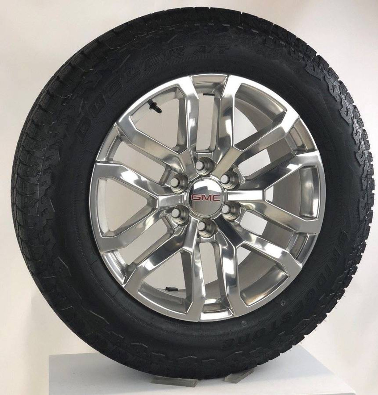 "New 2019 Takeoff 20"" GMC Sierra Polished Wheels With Bridgestone A/T Tires"