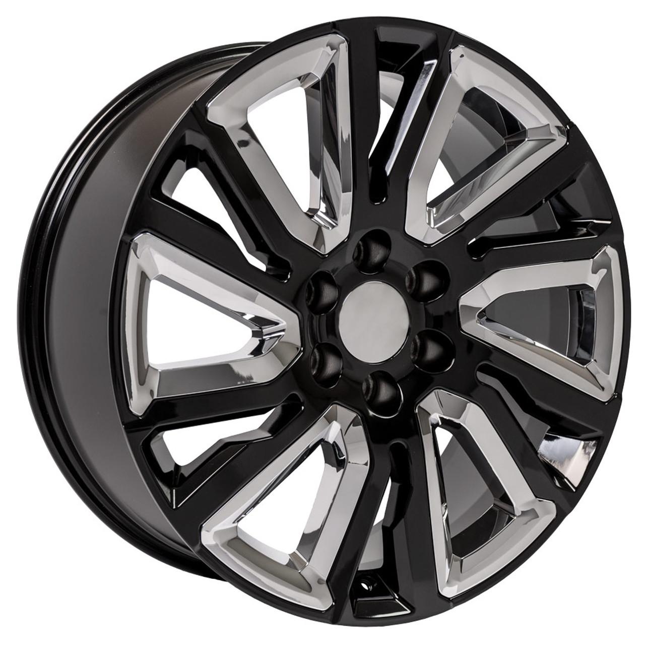 wheels rims gmc chrome sierra inch wheel 1500 replica chevy cv39 gloss denali yukon silverado insert rim inserts chevrolet 22x9