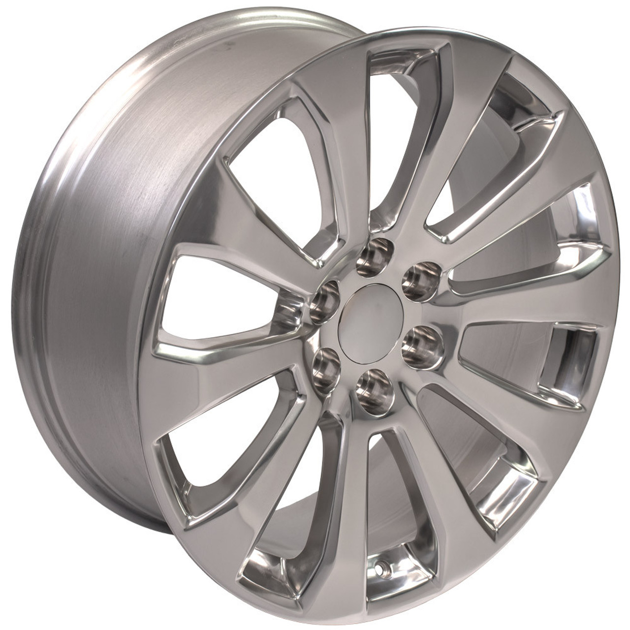 "Polished 22"" High Country Style Ten Spoke Wheels for Chevy Silverado, Tahoe, Suburban - New Set of 4"