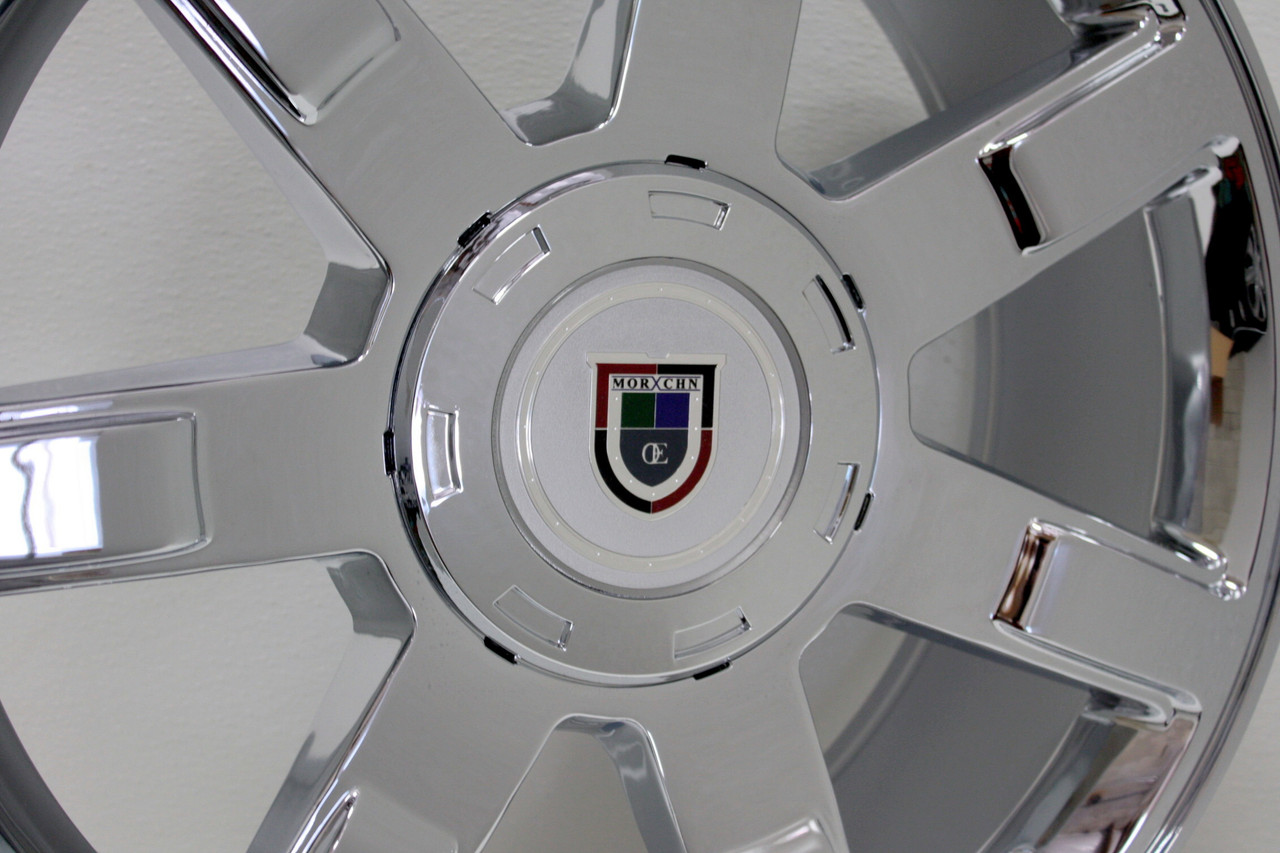 """Chrome 22"""" Escalade Big Cap Replica Wheels for Cadillac Escalade"""
