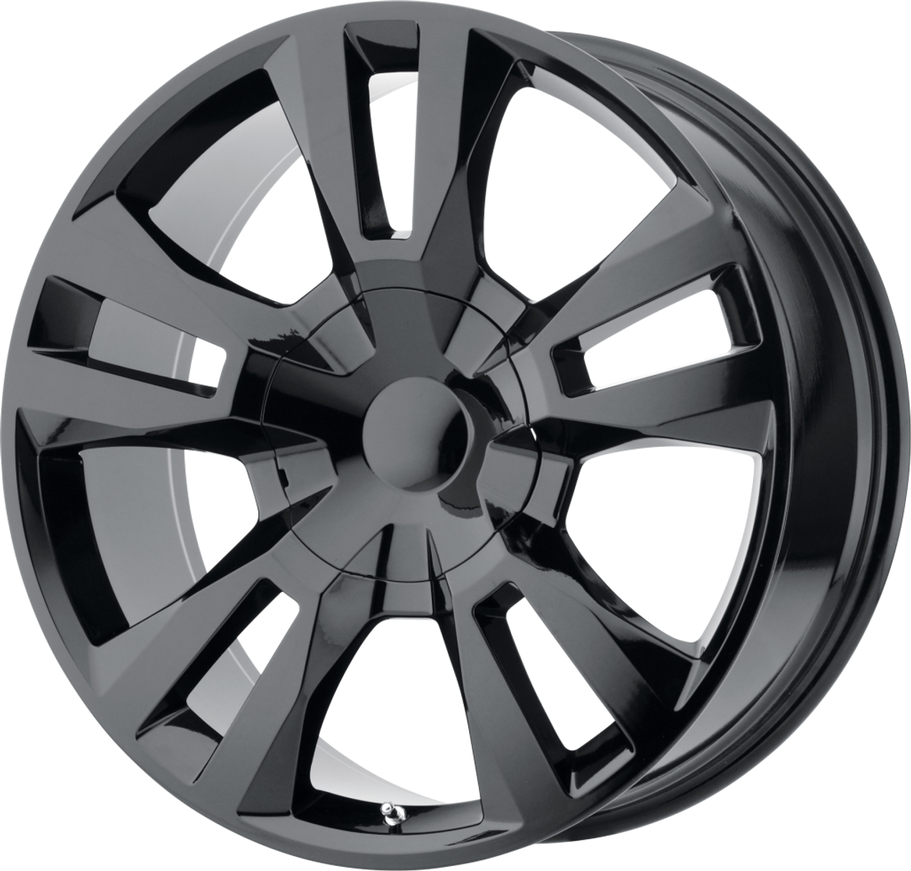 """Gloss Black 24"""" RST Style Split Spoke Wheels for GMC and Chevy 1500 Trucks and SUVs"""