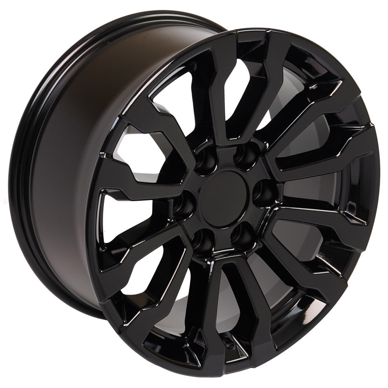 """Gloss Black 18"""" AT4 Style Wheels for Chevy and GMC Trucks and SUVs"""