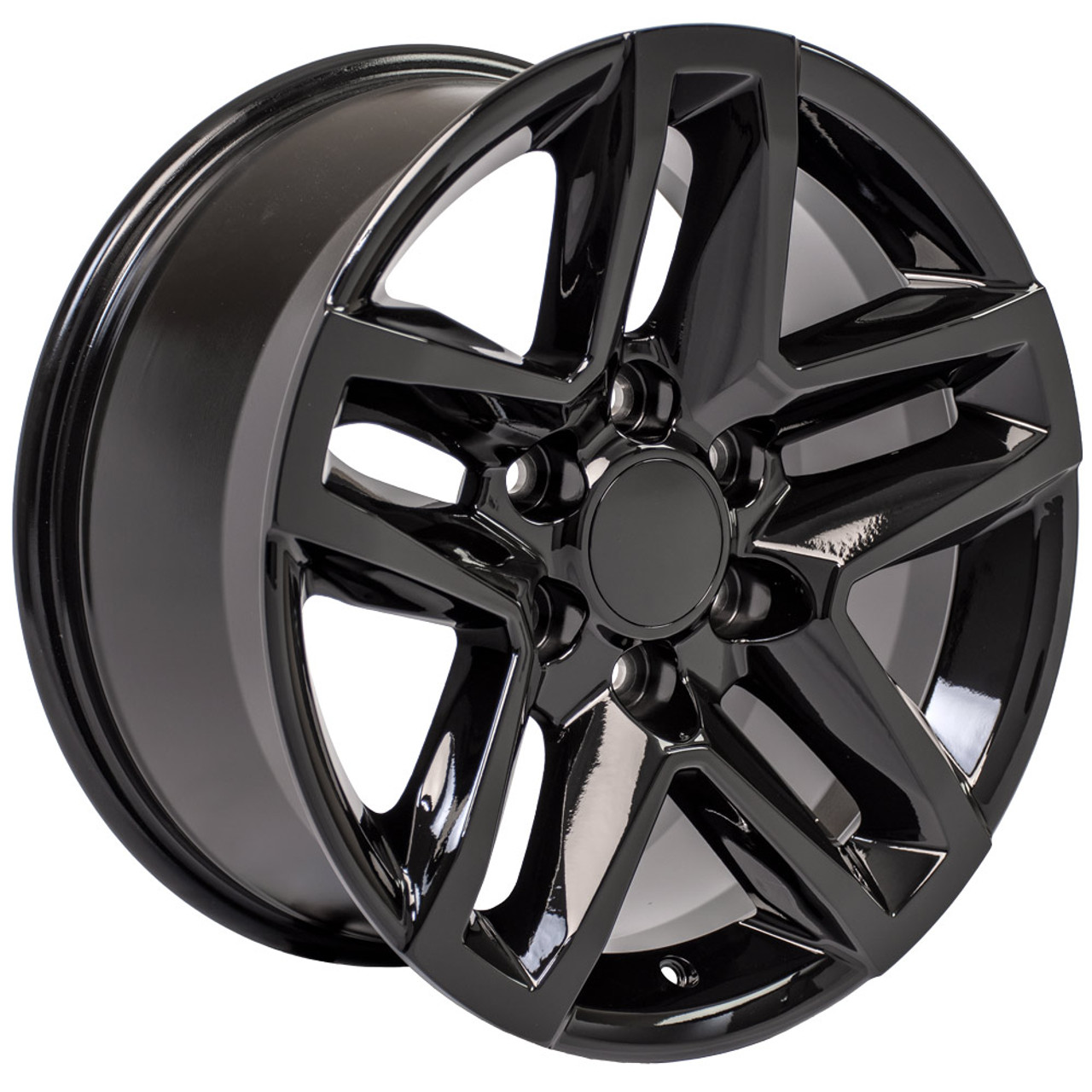 """Gloss Black 18"""" Trail Boss Style Wheels for Chevy and GMC Trucks and SUVs"""