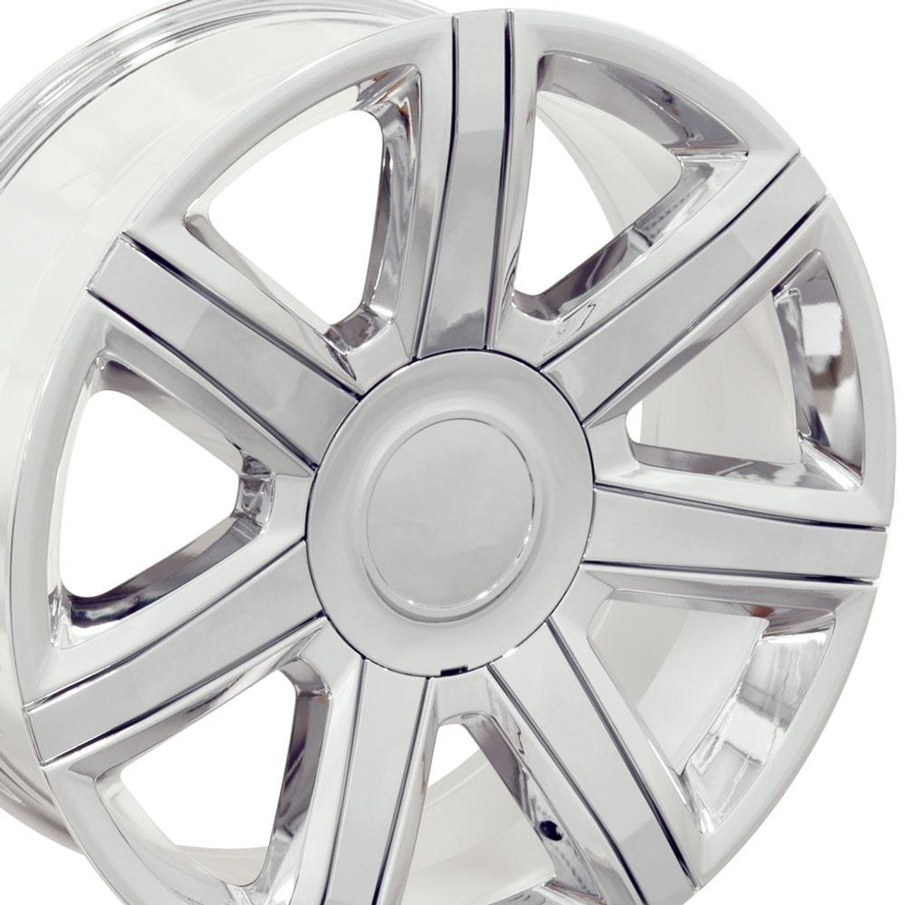 """Chrome 22"""" With Chrome Insert Escalade Style Replica Wheels for Cadillac, GMC, Chevy"""