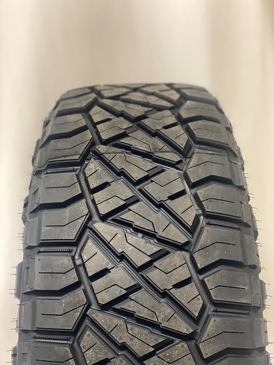 "Black and Machine 20"" RST Style Split Spoke Wheels with Nitto Ridge Grappler Tires for Chevy Silverado, Tahoe, Suburban - New Set of 4"