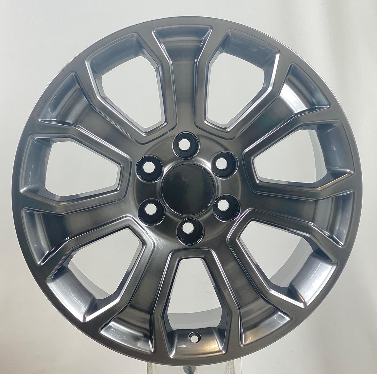 "Hyper Silver 20"" Seven Spoke Wheels for Chevy Silverado, Tahoe, Suburban - New Set of 4"