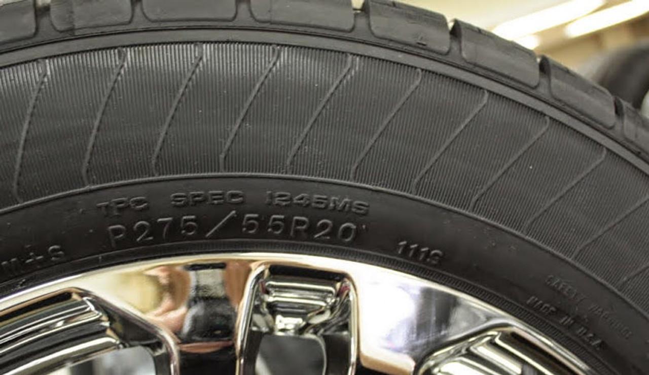 """Chrome 20"""" Denali Style Split Spoke Wheels with Goodyear Tires for Chevy Silverado, Tahoe, Suburban - New Set of 4"""