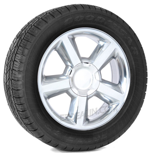 """Polished 20"""" Old Style LTZ Wheels with Goodyear Tires for Chevy Silverado, Tahoe, Suburban - New Set of 4"""