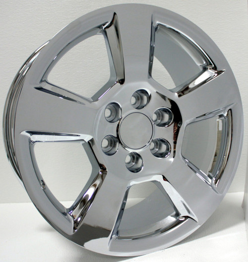 "Chrome 20"" New Style LTZ Wheels for Chevy Silverado, Tahoe, Suburban - New Set of 4"
