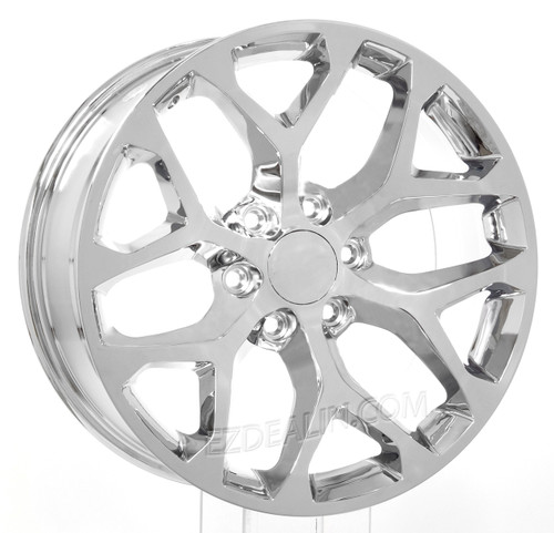 "Chrome 20"" Snowflake Wheels for Chevy Silverado, Tahoe, Suburban - New Set of 4"