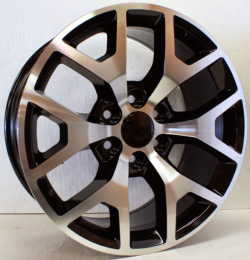 "Black and Machine 20"" Honeycomb Wheels for Chevy Silverado, Tahoe, Suburban - New Set of 4"