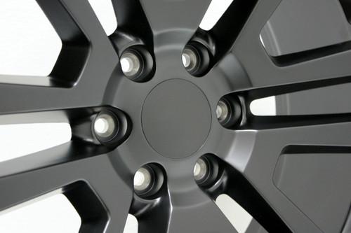 "Satin Matte Black 22"" Split Spoke Wheels for Chevy Silverado, Tahoe, Suburban - New Set of 4"