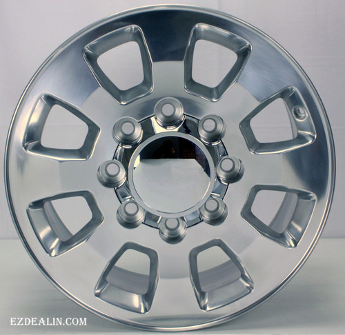 """Polished 18"""" Denali Style 8 Lug 8-180 Wheels for 2011-2018 Chevy 2500 3500 - New Set of 4"""
