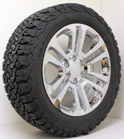 Bfg Ko 2 >> Chrome 20 Split Spoke Wheels With Bfg Ko2 A T Tires For Chevy Silverado Tahoe Suburban New Set Of 4
