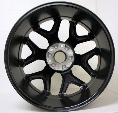 "Satin Matte Black 22"" Snowflake Wheels for GMC Sierra, Yukon, Denali - New Set of 4"