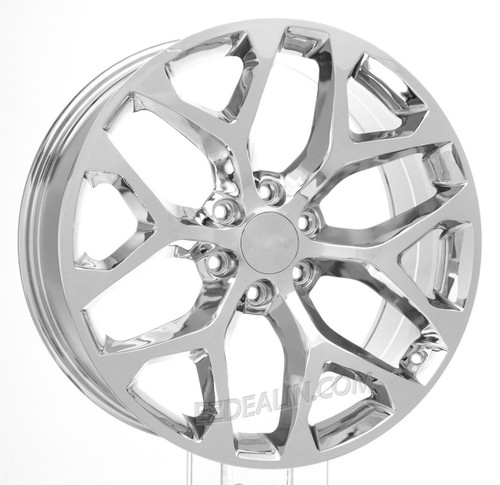"Chrome 22"" Snowflake Wheels for GMC Sierra, Yukon, Denali - New Set of 4"
