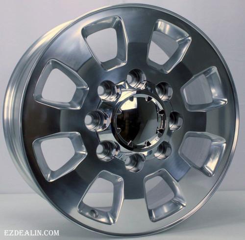 """Polished 18"""" Denali Style 8 Lug 8-180 Wheels for 2011-2021 GMC 2500 3500  - New Set of 4"""
