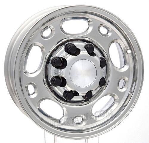 "Polished 16"" 8 Lug 8-165 Wheels for 2001-2010 GMC 2500, 3500, Savana Van - New Set of 4"