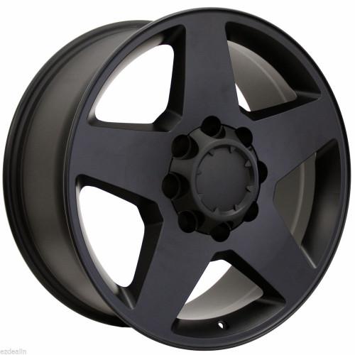"Satin Matte Black 20"" 8 Lug 8-180 Wheels for 2011-2018 GMC 2500 3500 - New Set of 4"