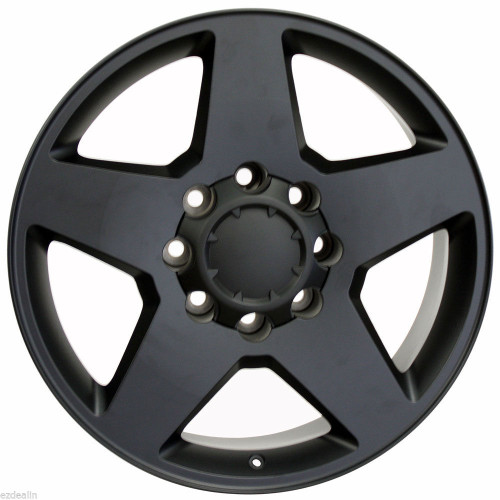 "Satin Matte Black 20"" 8 Lug 8-180 Wheels for 2011-2020 GMC 2500 3500 - New Set of 4"