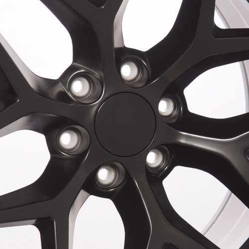 "Satin Matte Black 20"" Snowflake Wheels with Goodyear Tires for GMC Sierra, Yukon, Denali - New Set of 4"