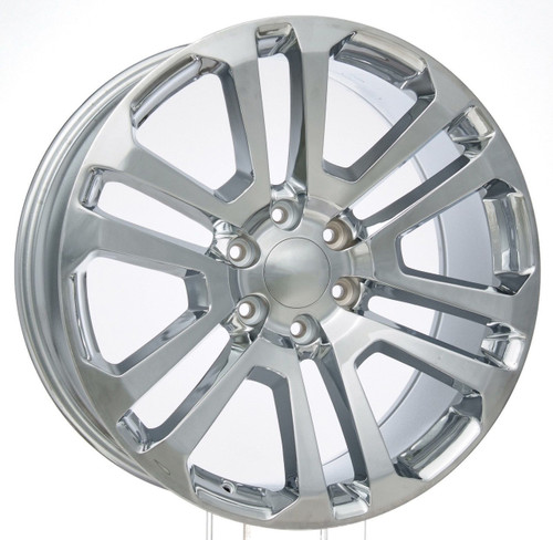 "Chrome 22"" Split Spoke Wheels for Chevy Silverado, Tahoe, Suburban - New Set of 4"