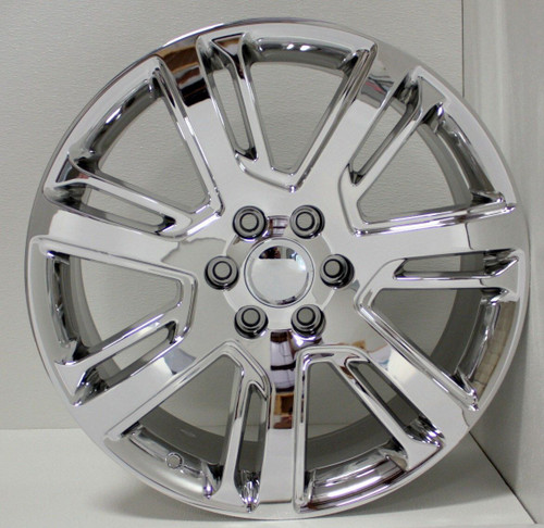 "Chrome 22"" Quarter Split Spoke Wheels for Chevy Silverado, Tahoe, Suburban - New Set of 4"