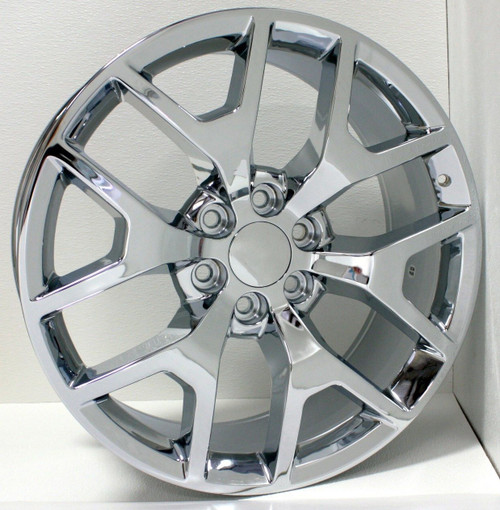 "Chrome 22"" Honeycomb Wheels for Chevy Silverado, Tahoe, Suburban - New Set of 4"