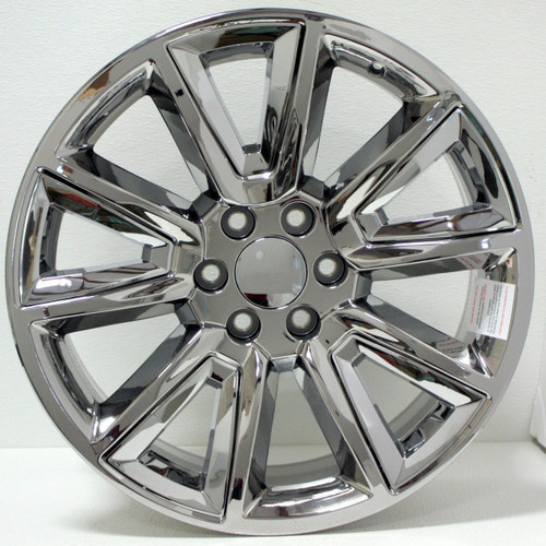"Chrome 20"" New V Style Chrome Inserts Wheels for GMC Sierra, Yukon, Denali - New Set of 4"