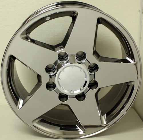 "Chrome 20"" 8 Lug 8x180 5 Spoke Wheels for 2011-2020 GMC 2500 3500 - New Set of 4"