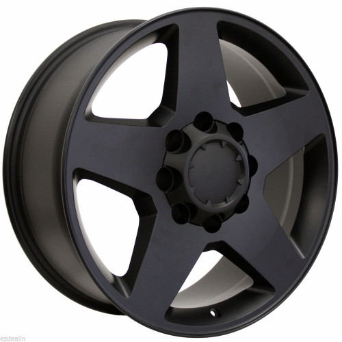 "Satin Matte Black 20"" 8 Lug 8-165 Wheels for 2001-2010 GMC 2500 3500 - New Set of 4"