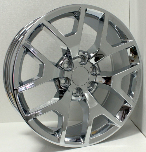 "Chrome 22"" Honeycomb Wheels for GMC Sierra, Yukon, Denali - New Set of 4"