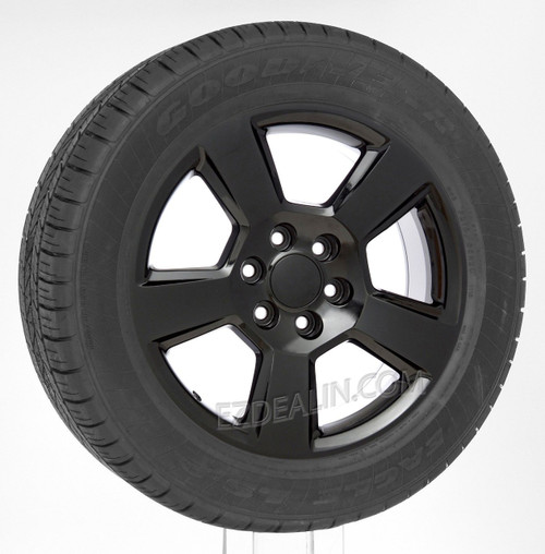 "Gloss Black 20"" New Style LTZ Wheels with Goodyear Tires for GMC Sierra, Yukon, Denali - New Set of 4"