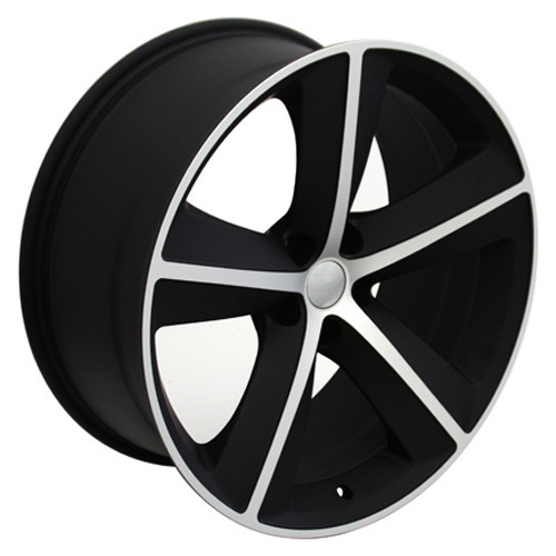 """Satin Black and Machine 20"""" Dodge Charger/Challenger Replica Wheels"""